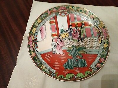 Japanese heavy porcelain decorated plate/wall plaque/dish