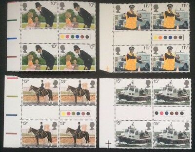 GB: 1979 Police, Traffic Light Gutter Pair Sets MNH condition.