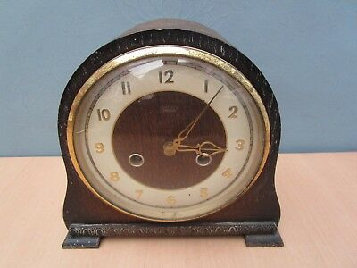 Vintage Wooden Smiths Mantle Clock - No Key
