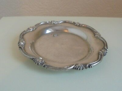 EGYPTIAN SILVER 900 SMALL TRAY CAIRO 1941/2 WEIGHT 131gms PATTERNED EDGE
