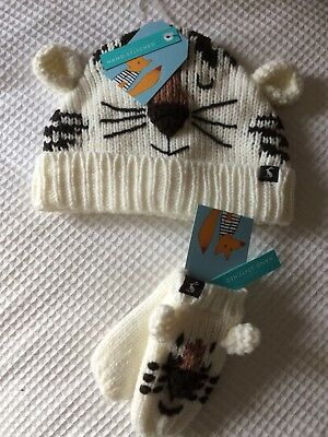 ** Joules Baby Hat And Mittens BNWT 12-24 Months/ 1-2 Years boys/girls/unisex **