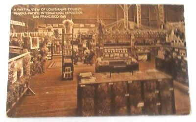 1915 pc of Partial View of Louisiana's Exhibit, Pan Pacific Int'l Expo, San Fra