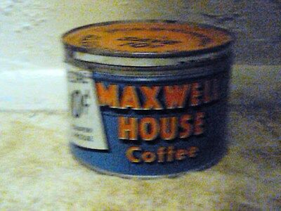 Old Maxwell House Coffee Tin, Clearing Storage