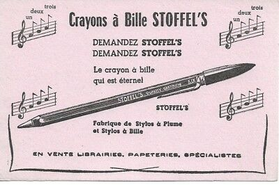 Buvard 126038 Crayons A Bille Stoffel S Gamme Musique