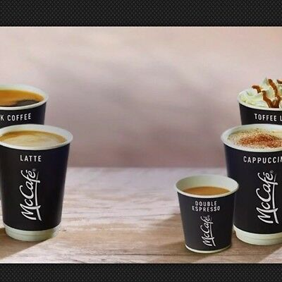 mcdonalds coffee stickers BEAN 31/12/19 ANY HOT DRINK 10 DRINKS