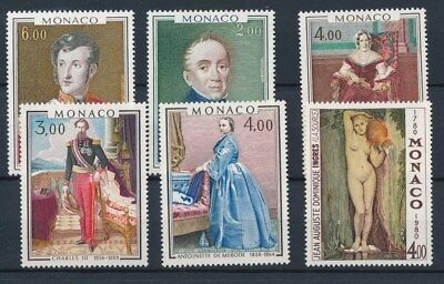 [87165] Monaco Painting good lot Very Fine MNH stamps
