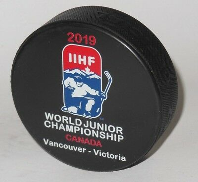 hard FIND @ official hockey game puck WORLD JUNIOR CHAMPIONSHIP 2019 Vancouver