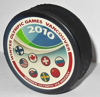 Nations WOMEN HOCKEY edition InGlasCo PUCK WINTER OLYMPIC GAMES 2010 VANCOUVER