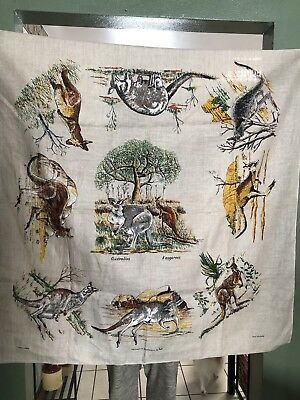 Vintage Linens From Australia By Heil Tablecloth, Wall Hanging, Placque