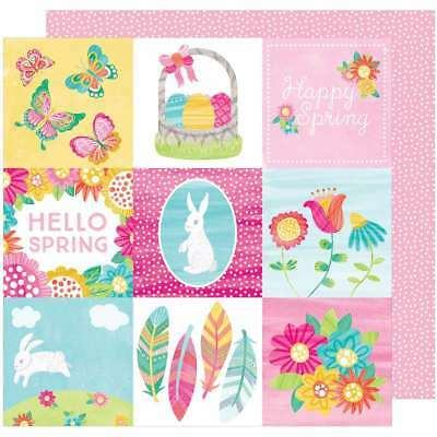 """Hello Spring Double-Sided Cardstock 12""""X12"""" Sunny Bunny 718813205399"""