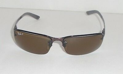 6d2be720b8 GENUINE RAY BAN Polarized Sunglasses RB 4057 Tortoise Shell Brown ...