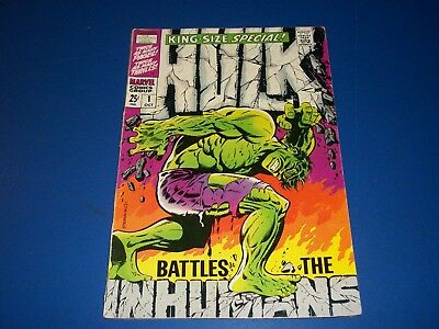 Incredible Hulk Annual #1 Silver Age Inhumans Steranko Cover VG+
