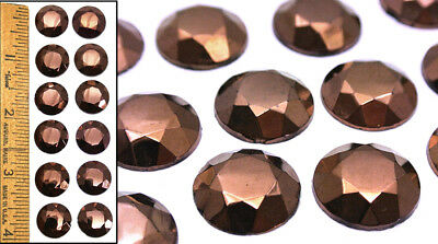 15mm Vintage 1940's Czech Glass No Shank Shankless Copper Cabochon Buttons 12pc