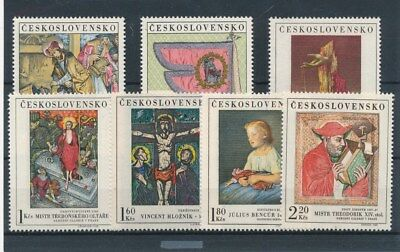 [109609] Czechoslovakia Art/Painting good Lot very fine MNH Stamps