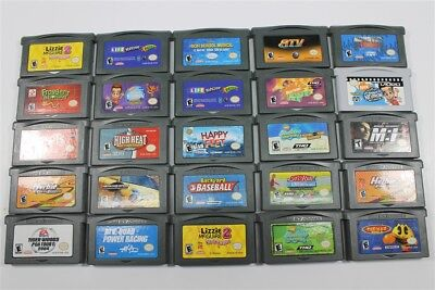 Lot of 25 Game Boy Advance Games