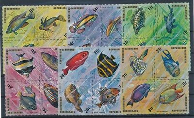 [G88703] Burundi Fishes good set Very Fine MNH Airmail stamps
