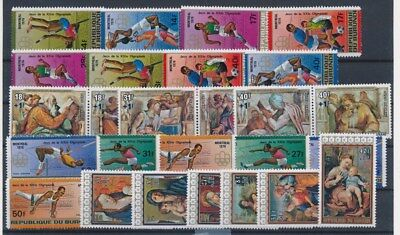 [G88710] Burundi Olympics/Paintings good lot Very Fine MNH stamps
