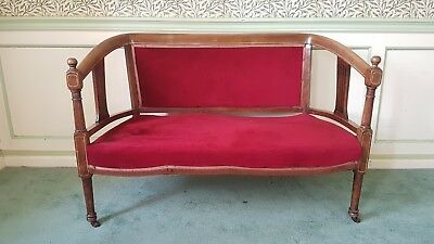 Edwardian 2-seater inlaid settee