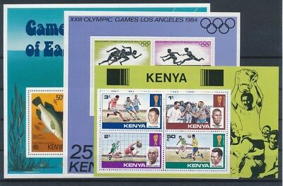 [G89216] Kenya 3 good sheets Very Fine MNH