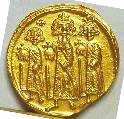 Byzantine Gold Solidus ND (632-641) AU/Uncirculated