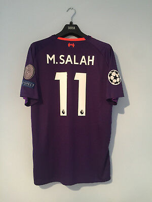 Liverpool FC Away 2018/19 Champions League Shirt Adults LARGE SALAH #11 NEW