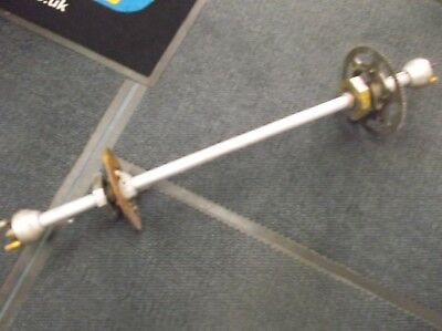 go kart historic/classic100cc 30mm rear hollow axle + components including hubs