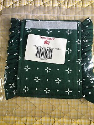 Longaberger Handle Gripper #219034 Heritage Green Fabric New in Package