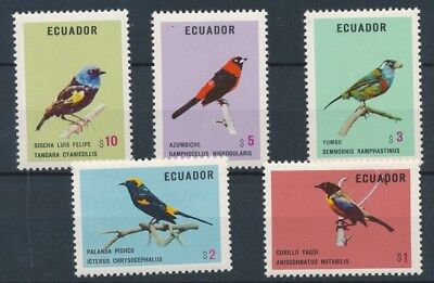 [134019] Ecuador Birds good set of stamps very fine MNH
