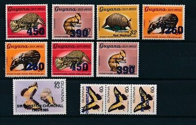 [134081] Guyana  good lot of stamps very fine MNH