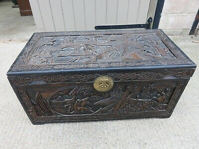 An Asian Camphor Wood Chest