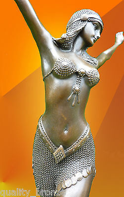ART DECO BRONZE STATUE DANCER PALMYRA SIGNED Chiparus FIGURE HOT CAST FIGURINE
