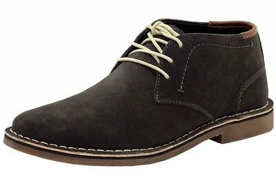 4952970a53ae Kenneth Cole Men s Desert Sun Dark Grey Sueded Leather Chukka Boots Shoes