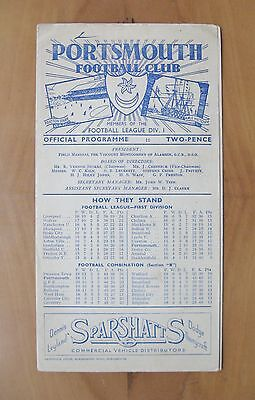 PORTSMOUTH v CHARLTON ATHLETIC 1946/1947 *VG Condition Football Programme*
