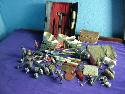 Vintage / antique large job lot of various collectables some gold / silver