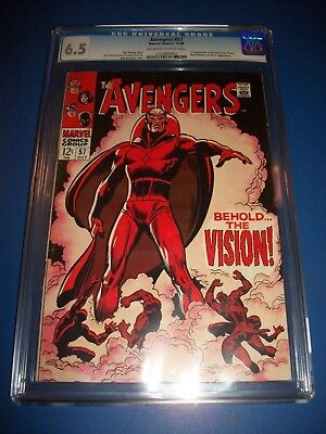Avengers #57 Silver Age 1st Vision Huge Key CGC 6.5 Fine+ Beauty Wow