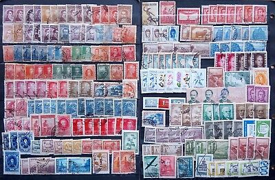 ARGENTINA,VENEZUELA, CHILE AND BRAZIL,BIG LOT STAMPS, around 350-400, 2 PICTURES