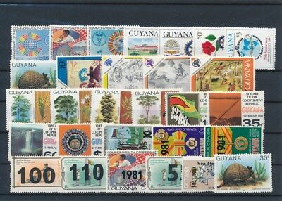 [G126009] Guyana good lot of stamps very fine MNH
