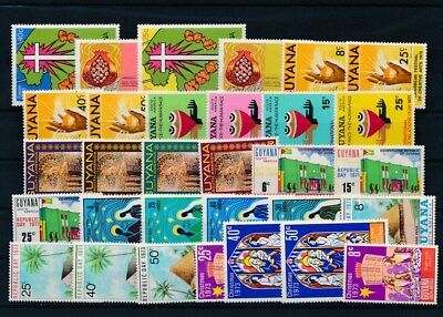 [G126019] Guyana good lot of stamps very fine MNH