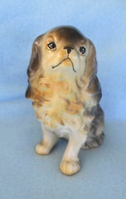 Old Ceramic English Toy Cavalier King Charles Spaniel Dog Figurine Japan Ucagco