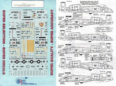 Superscale Decal 48-517 A-10A Warthog Desert Storm 926th F.G., New Orleans 1/48