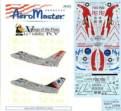 Aeromaster Decal Nr.48-572 S-3B Vikings of the Fleet Lo Visibility Pt.V 1/48