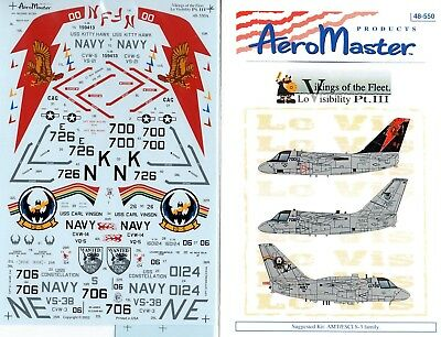 Aeromaster Decal Nr.48-550 S-3B & ES-3A Vikings of the Fleet Part III 1/48