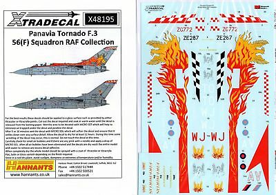 Xtradecal Nr.X48195 Panavia Tornado F.3 56(F) Squadron RAF Collection 1/48
