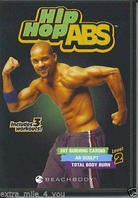 Hip Hop Abs Level 2 Includes 3 Workouts Set Of 2 Dvds Fitness Present New
