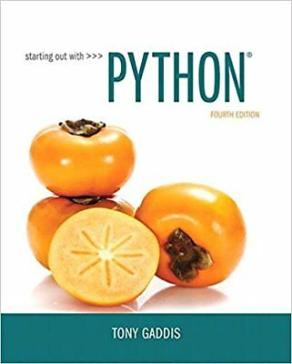 [PDF] Starting Out with Python 4th Edition by Tony Gaddis - Send to MESSAGE