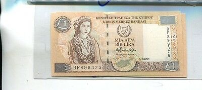 Cyprus 2004 1 Pound Currency Note Choice Cu 8029J
