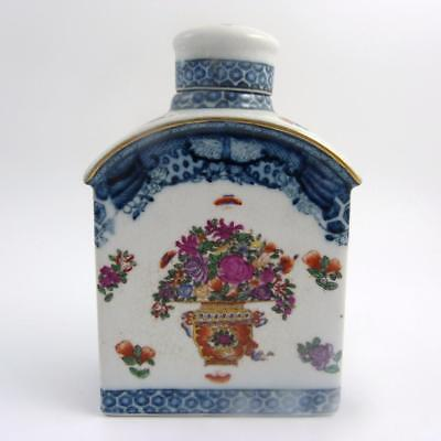 Large Chinese Qianlong Style Porcelain Tea Caddy, Untied Wiilson 1897,  Ppc
