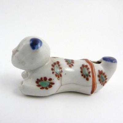 Japanese Kakiemon Porcelain Whistle In The Form Of A Young Boy, Edo 18Th Century