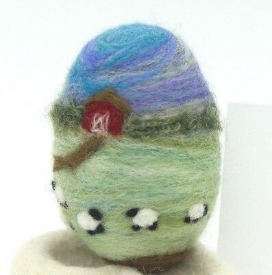 Needle Felted Wool Easter Egg Bowl Filler gift Folk Artist Melissa Philbrook USA