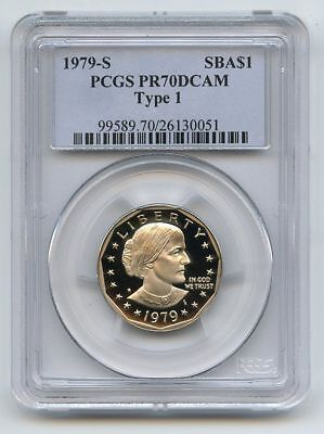 1979 S $1 T1 SBA Susan B Anthony Dollar Proof PCGS PR70DCAM